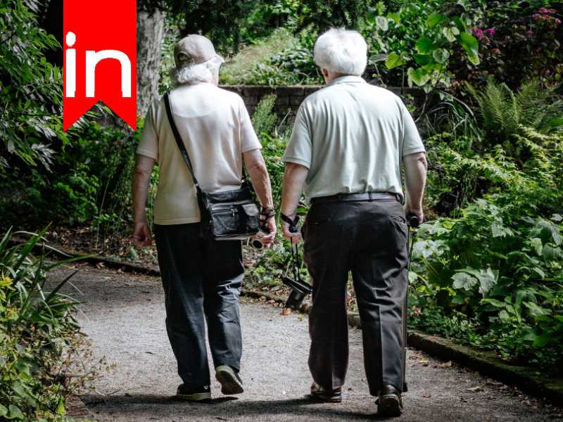 active seniors on walk